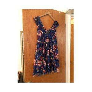 Floral Cap Sleeve Mini Dress NWT Large